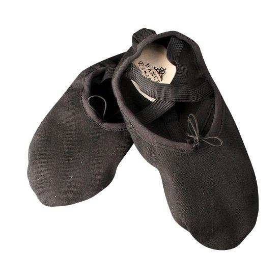 Balletschoen Dancer Dancewear Stretch Pro Canvas zwart split zool