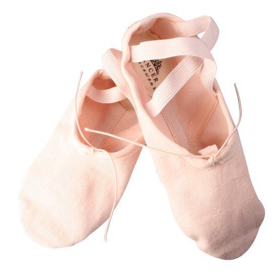 Balletschoen Dancer Dancewear Stretch Pro Canvas roze split zool