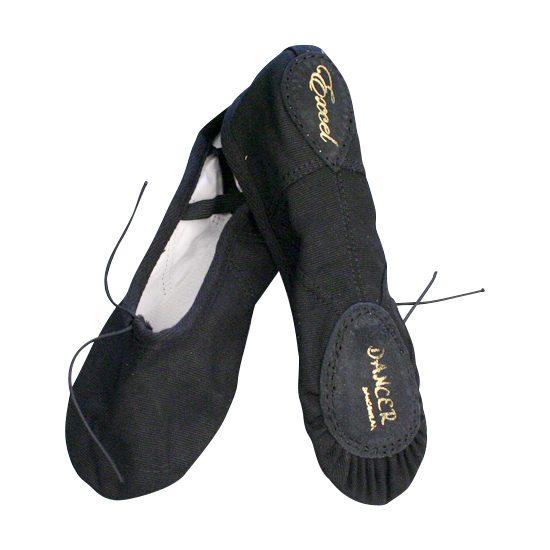 Balletschoenen Dancer Dancewear Excel zwart split zool