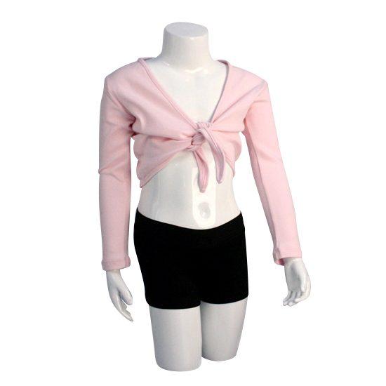 Balletvestje Dancer Dancewear Cardigan Tie Up roze