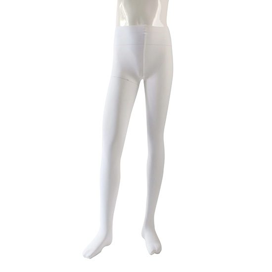 Balletpanty Dancer Dancewear wit met voet