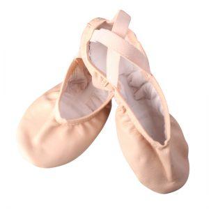 Balletschoenen Wear moi Pluton roze Leer split zool