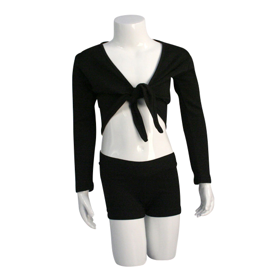 Balletvestje Dancer Dancewear Cardigan Tie Up zwart