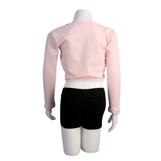 Balletvestje Dancer Dancewear Cardigan Tie Up roze