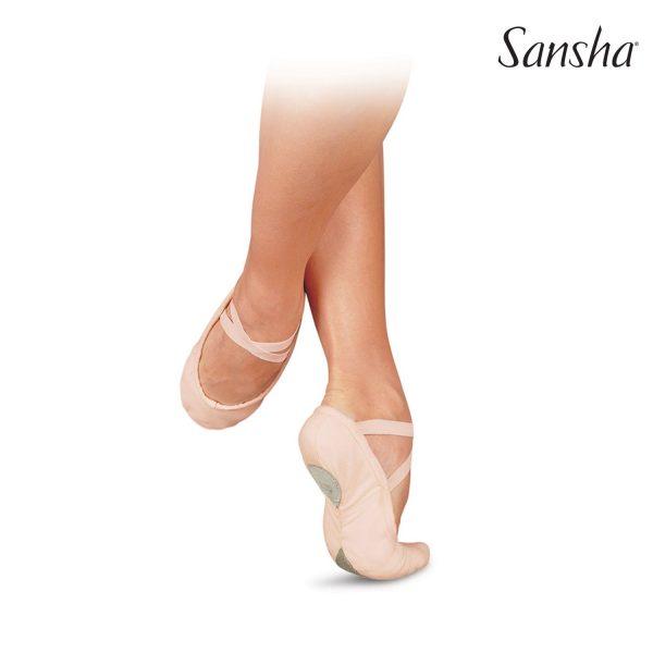 Balletschoenen Sansha Pro C1 M roze 3