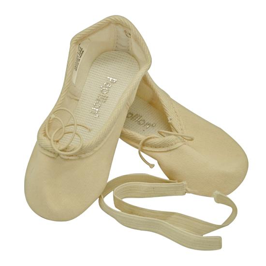 Balletschoenen Papillon canvas roze hele zool 1010