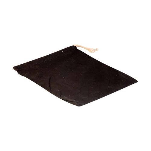 Leertjes tasje katoen Zwart
