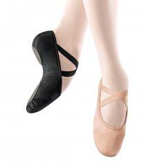 Balletschoen Dancer Dancewear StrechPro Canvas zwart split zool